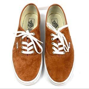 VANS Brown Suede Authentic Sneakers - Men's 11